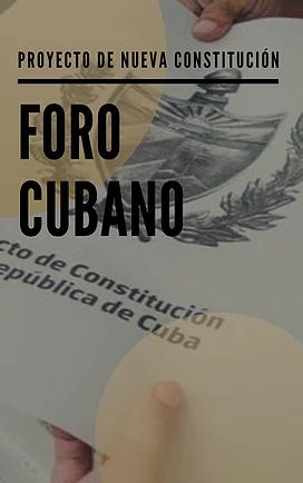 Proyecto de Nueva Constitución en Cuba (Octubre)
